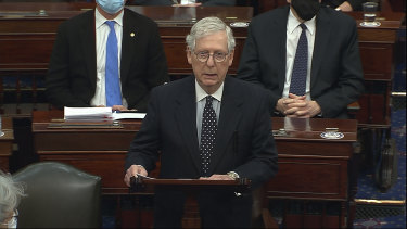 Republican Senate Minority Leader Mitch McConnell said there was no question Donald Trump was responsible for the January 6 assault on the Capitol.