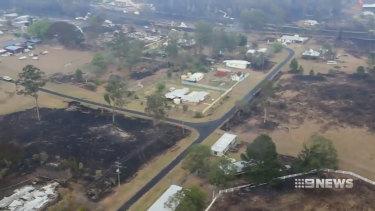 Rain has been a welcome site in Rappville after a bushfire tore through the town.