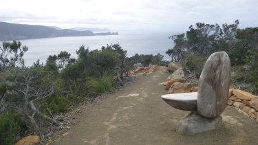 A seat at Cape Pillar, part of the Three Capes Walk on the Tasman Peninsula.