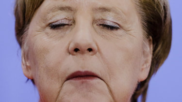 German Chancellor Angela Merkel pictured at the chancellery in Berlin, Germany, on Friday, September 21.