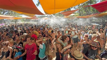 Revellers at the Rainbow Serpent Festival last year.