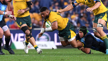 Cautious: Hooker Tolu Latu is a big chance of starting for the Wallabies in their first pool match at the Rugby World Cup against Fiji.