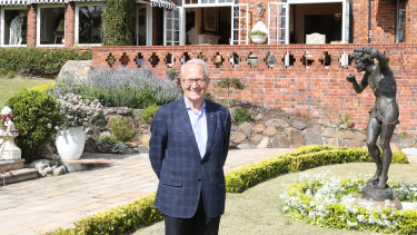 John Schaeffer at the Bonnington residence in Bellevue Hill he once owned.