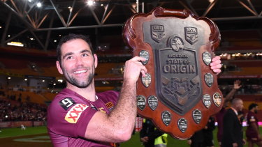 Cameron Smith with the spoils of victory.