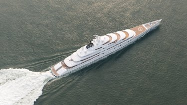 The 180 metre Azzam is owned by the president of the United Arab Emirates.
