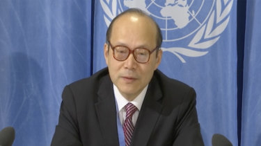 China's ambassador in Geneva, Chen Xu,  criticises the US.