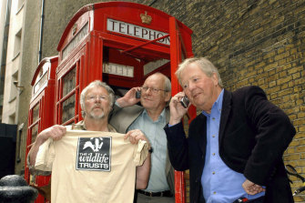 The Goodies hamming it up in London in 2003.