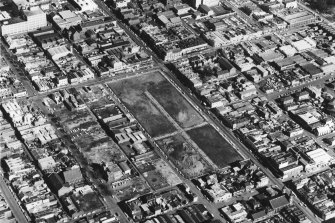 An aerial view of Fitzroy in 1967.