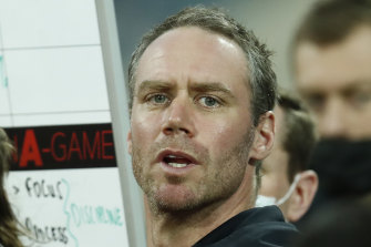 Essendon coach Ben Rutten.