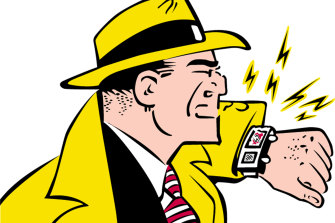 Dick Tracy's watch phone, introduced to the comic strip in 1946, is getting a new lease on life with the introduction of audience-tracking devices for radio ratings.