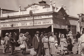 The Country Women's Association of NSW tearooms at the Royal Easter Show in 1948. The annual fundraiser has been cancelled due to coronavirus.