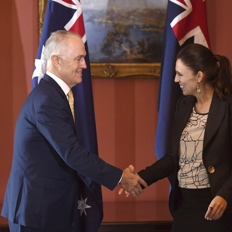With PM Malcolm Turnbull.