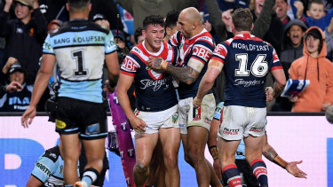 Time on their side: The Roosters earned a week off with their win over the Sharks.