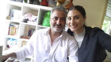 Hazem Hamouda with his Australian-born daughter, Lamisse.