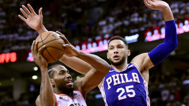 Ben Simmons dropped his usually serious demeanour.