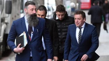 """Mark """"Bomber"""" Thompson oustide court on Thursday."""
