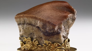 National Palace Museum's Meat-shaped stone.