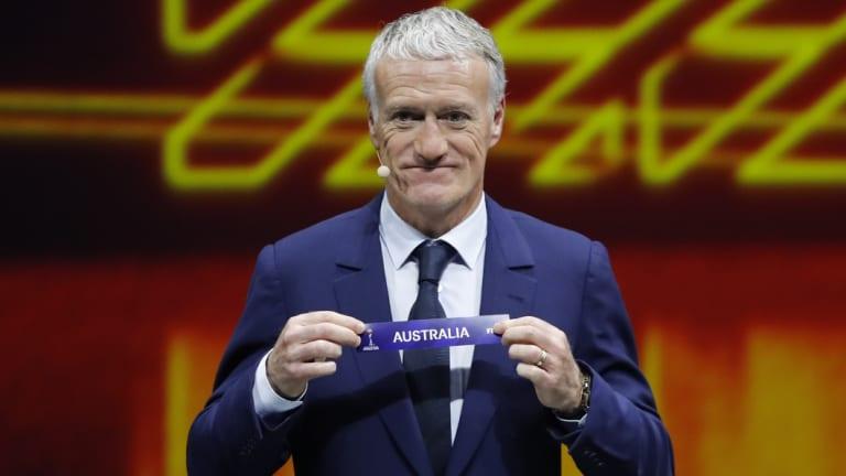 Bonne chance: Didier Deschamps draws Australia in Paris.