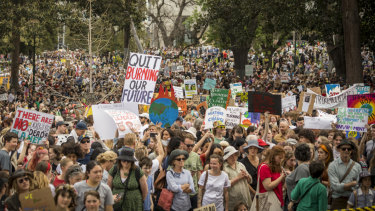 The climate strike on Friday in Melbourne attracted around 100,000 people.