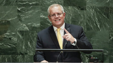 Mr Morrison's experience in New York should convince him that Australia's weak climate policies will be an albatross around his neck internationally.