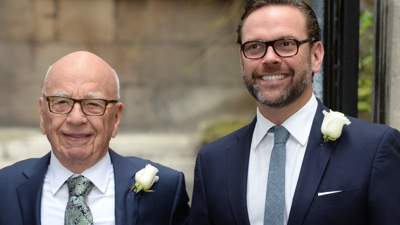 James Murdoch breaks ranks over climate change denial