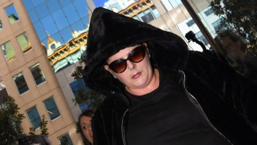 Alison Mains arrives at Sydney's Downing Centre courthouse on Wednesday.