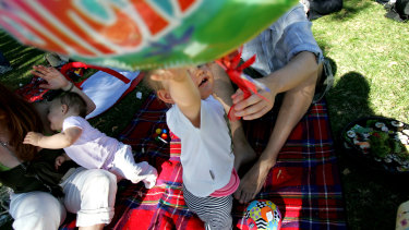 Five people at a child's birthday picnic in Melbourne were fined.