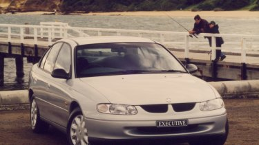 The Holden Commodore in its heyday in 1998, when more than 94,000 were sold.