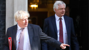 Boris Johnson (left) and David Davis have resigned from the UK government.