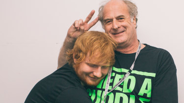 Ed Sheeran is dedicating his new album to the late Michael Gudinksi, founder of Mushroom and a close friend of the English musician.