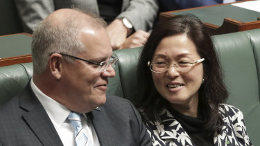 Prime Minister Scott Morrison launched a spirited defence of Gladys Liu on Thursday.