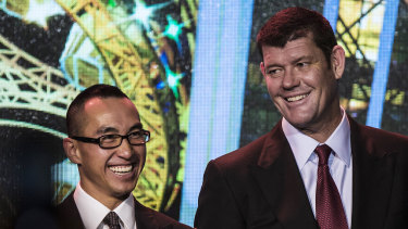 Melco boss Lawrence Ho (left) and James Packer have both been called to give evidence at the ILGA inquiry.