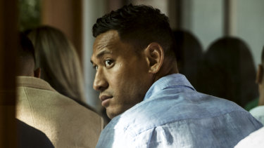 Israel Folau said he had not thought about a legal case for religious discrimination when asked on Sunday.
