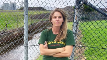 Jess Whittaker has uncovered alarming levels of contamination in a drain at Port Kembla.