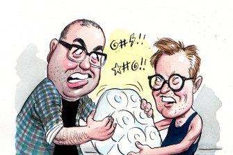 Long squabble: Julian Morrow and Nick Murray