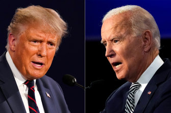 "The debate between Donald Trump, left, and Joe Biden was an indicator of the ""bad shape of the American democracy"", one analyst said."