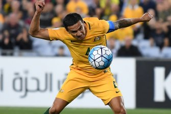 Tim Cahill's ability to head the ball became the stuff of legend during his Socceroos career.
