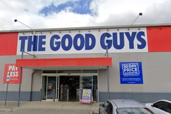 The Good Guys in Browns Plains, one of two The Good Guys stores added to the public health alert.