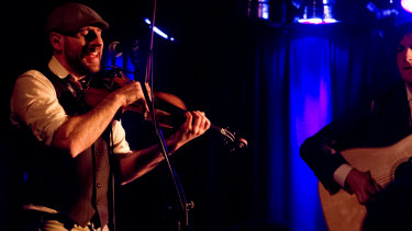 When the music's over: Punch Brothers performing at The Basement before it closed.