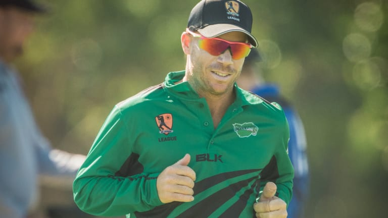 Already qualified: David Warner playing for the City Cyclones.