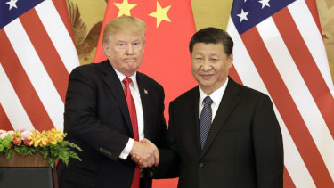US President Donald Trump, left, and China's President Xi Jinping have clashed over an increasing trade war.