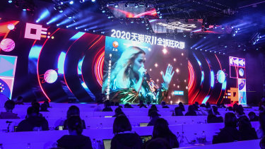 Katy Perry performed via livestream at the event.
