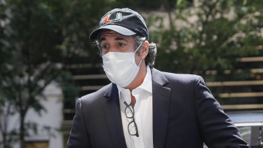 Michael Cohen, pictured in Manhattan in May, had been released from custody during the pandemic.