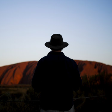 Journalist Tony Wright on assignment to cover the closure of the climb at Uluru on Saturday 26 October 2019.