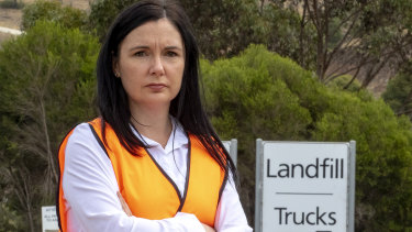 Hume mayor Carly Moore said her council had no choice but to dump recyclables in landfill.