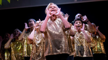 Nancye Hayes and the cast of Half Time manage to triumph over the musical's shortcomings.