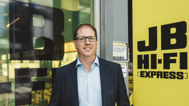 JB Hi-Fi chief executive Richard Murray expects retail sales to remain elevated for as long as Australians can't travel.