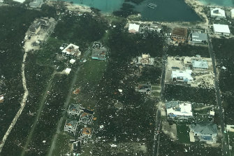 Damage is seen from Hurricane Dorian on Abaco Island.