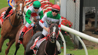 What a run: Lys Gracieux crosses the line.