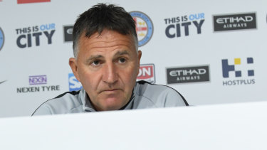 Under-siege Melbourne City coach Warren Joyce.